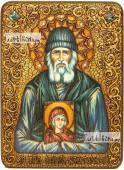Паисий Святогорец преподобный аналойная икона подарочная