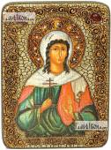 Алла Готфская, мученица, аналойная икона подарочная