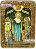 Всех Скорбящих Радость Божия Матерь аналойная икона подарочная
