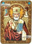 Николай Чудотворец в митре аналойная икона подарочная