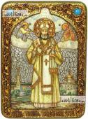 Тихон Задонский святитель аналойная икона подарочная