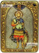 Иоанн Воин, мученик, аналойная икона подарочная
