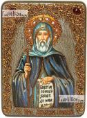 Антоний Великий преподобный аналойная икона подарочная