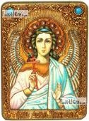 Ангел Хранитель в живописном стиле аналойная икона подарочная