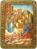 Благовещение Пресвятой Богородицы, аналойная икона подарочная