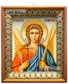 Ангел Хранитель живописный икона на холсте в киоте-рамке