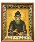 Паисий Святогорец, икона на холсте в киоте-рамке