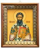 Григорий Палама, икона на холсте в киоте-рамке
