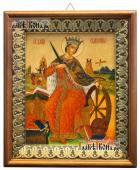 Великомученица Екатерина икона на холсте в киоте-рамке