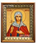 Мученица Лариса Готфская икона на холсте в киоте-рамке