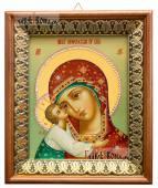 Игоревская Божия Матерь икона на холсте в киоте-рамке