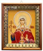 Лидия мученица, икона на холсте в киоте-рамке