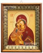 Донская Божия Матерь икона на холсте в киоте-рамке