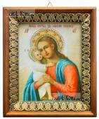 Взыскание погибших Божия Матерь икона на холсте в киоте-рамке