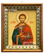 Максим Антиохийский икона на холсте в киоте-рамке