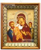 Трех Радостей Божия Матерь, икона на холсте в киоте-рамке