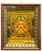 Всевидящее око Божие икона на холсте в киоте-рамке