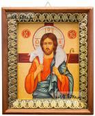 Добрый Пастырь, икона на холсте в киоте-рамке