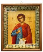 Иоанн Русский, икона на холсте в киоте-рамке