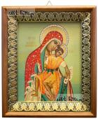Милостивая Киккская Божия Матерь, икона на холсте в киоте-рамке