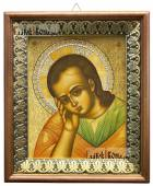 Недреманное око Спас, икона на холсте в киоте-рамке