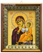 Отрада и Утешение Божия Матерь икона на холсте в киоте-рамке