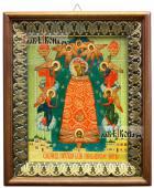 Прибавление Ума Божия Матерь икона на холсте в киоте-рамке