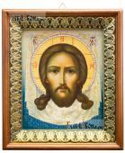 Спас Нерукотворный живописный икона на холсте в киоте-рамке