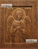 Резная икона Ангела Хранителя артикул 22302
