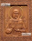 Резная икона Матроны Московской артикул 22310