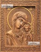 Резная икона Казанской Божией Матери артикул 22103