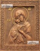 Резная икона Владимирской Божией Матери артикул 22204