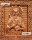 Резная икона Пантелеймона Целителя артикул 22313