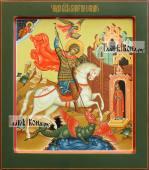 Георгий Победоносец писаная икоан палех артикул 6250 - вариант 1