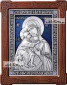 Феодоровская Божия Матерь серебряная икона с эмалью артикул 13178