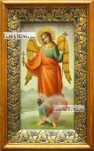 Икона Ангела Хранителя (ростовое изображение), маслом, артикул 712 - вид в киоте