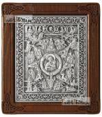 """Божия Матерь """"Неопалимая Купина"""" - икона серебряная артикул 11233"""