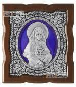 Серебряная икона с эмалью Арсении Усть-Медведицкой артикул 13235