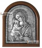 Серебряная икона Донской Божией Матерь артикул 11236