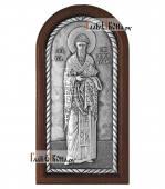 Святитель Спиридон Тримифунтский серебряная икона артикул 11240