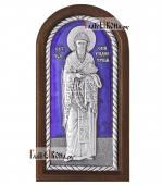 Спиридон Тримифунтский ростовой серебряная икона с эмалью малая