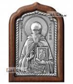 Савва Сторожевский серебряная икона малая артикул 11225