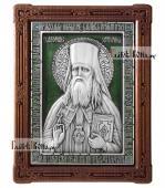 Феофан Затворник, икона серебряная с эмалью, артикул 13219