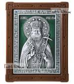 Лука Крымский икона серебряная с эмалью артикул 13199
