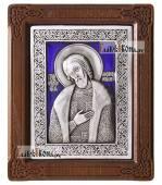 Александр Невский серебряная иконас эмалью артикул 13115