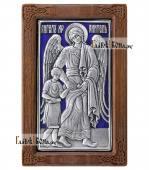 нгел Хранитель с дитем серебряная икона с эмалью артикул 13112