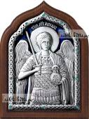 Архангел Михаил икона серебряная с эмалью артикул 13173