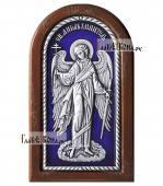 Ангел Хранитель икона из серебра покрытая эмалью артикул 13127