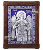 Архангел Михаил серебряная икона с эмалью артикул 13170