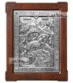 Рождество Христово, икона из серебра, артикул 11161